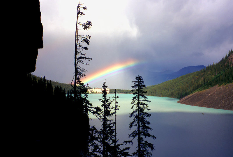 Rock Climbing Photo: Rainbow after a storm,