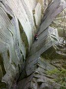 Rock Climbing Photo: Not really a chimney...