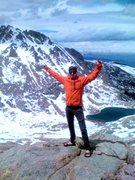 Rock Climbing Photo: Me on Mt. Evans