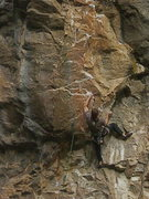 Rock Climbing Photo: Aaron Stetzer getting to the fun stuff