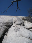 Rock Climbing Photo: Another view up P1