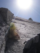 Rock Climbing Photo: From our 4th belay (5th in the old topos) at the b...