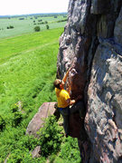 Rock Climbing Photo: JL climbing X on a nice day
