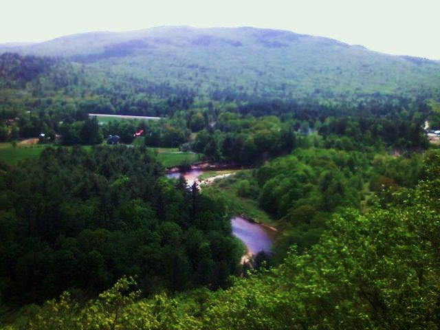 Rock Climbing Photo: View from top of P1.