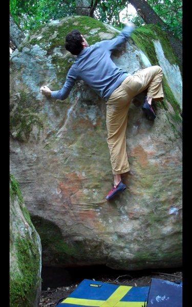 Rock Climbing Photo: Dark Side of the Moon, V7