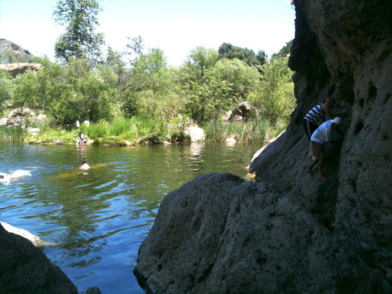 Rock Climbing Photo: just another traversing shot, plus swimmers 05/30/...