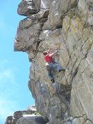 Rock Climbing Photo: Mid-crux on Maestro.