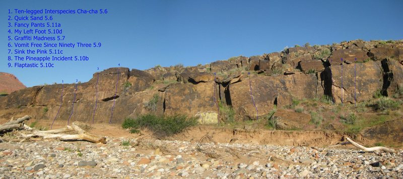Rock Climbing Photo: Northernmost (part of the N cluster) routes and th...