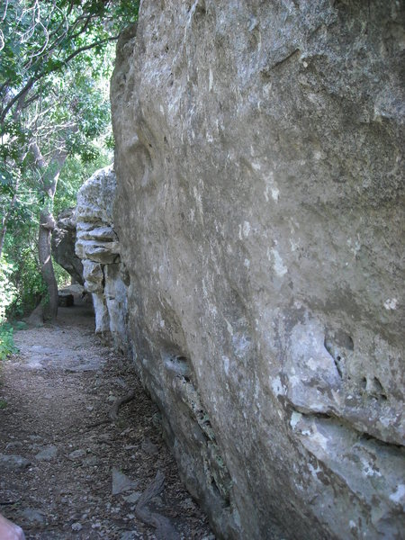 Main Wall on the approach trail.