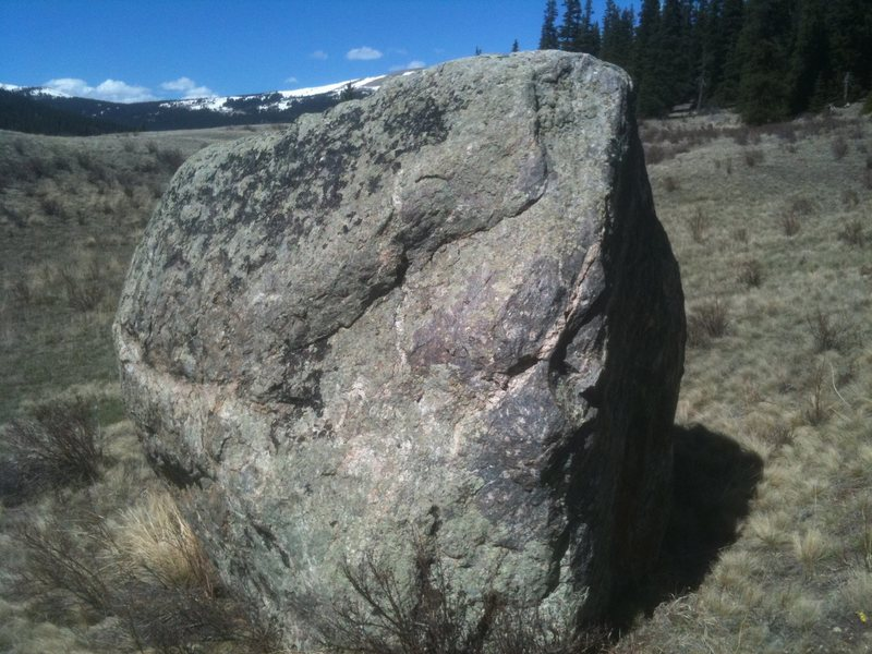 South side of the boulder.
