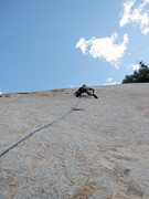 Rock Climbing Photo: Leading Dirty Dishes on Kern Slabs