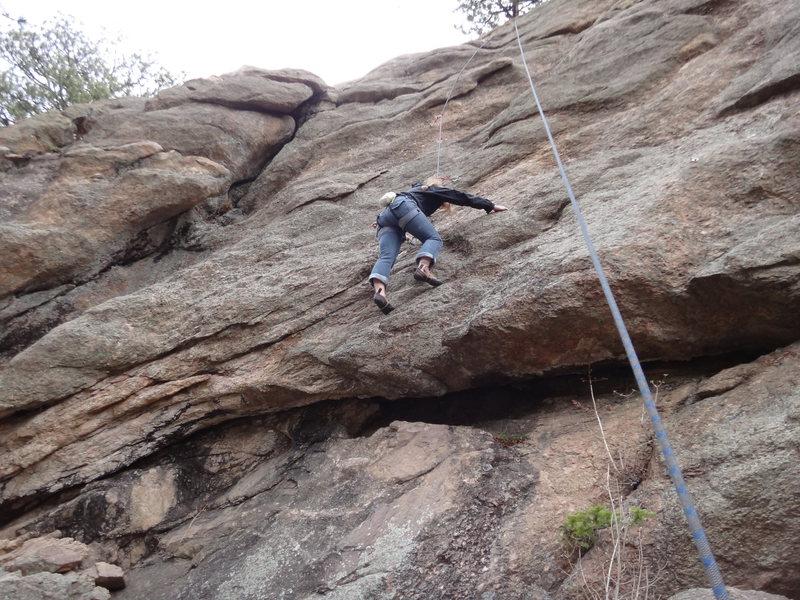 Rock Climbing Photo: April climbing Parallel Universes.