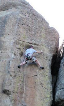 Climbing in Castlewood Canyon