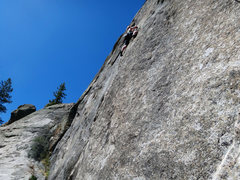 "Rock Climbing Photo: April climbing ""Junior Jules Doinks a Digit&q..."