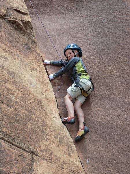 Garrett Gillest on Moderation 5.8 @ age 5.