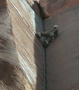 Rock Climbing Photo: Mike Keegan leading short but challenging corner, ...