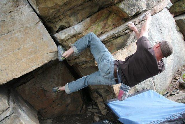 Rock Climbing Photo: Devon giving it a try....