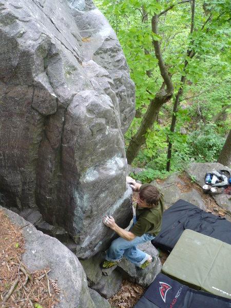John starting up the arete