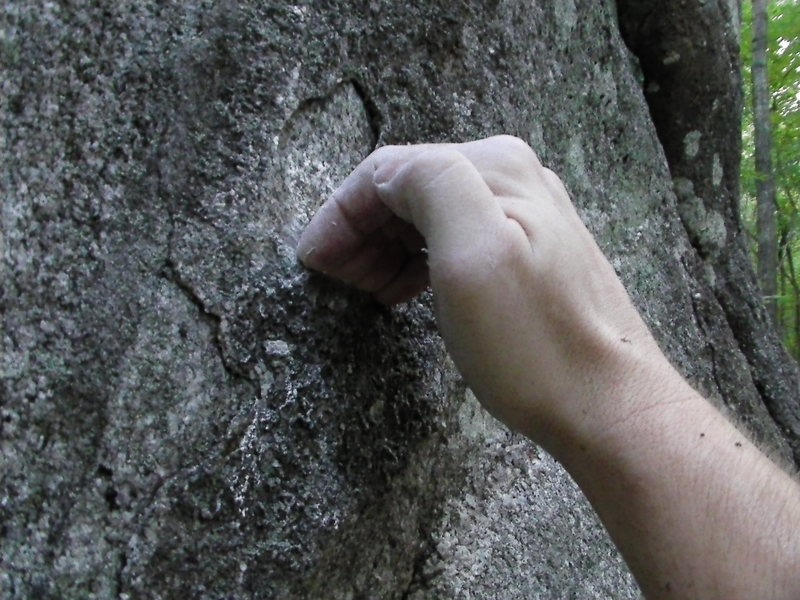 Rock Climbing Photo: Right hand start; view you will have during climb.