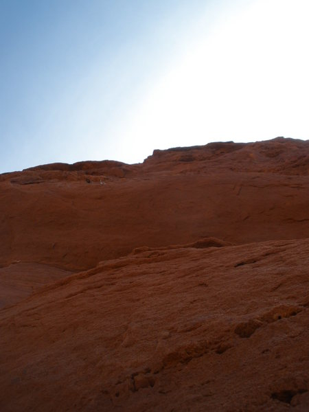Rock Climbing Photo: A look up the beginning of the 3rd pitch. The old ...