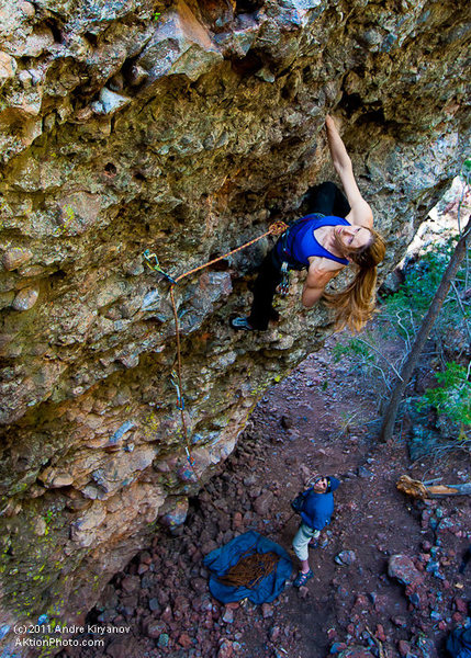 """Rock Climbing Photo: Leah Sandvoss on """"It's Time to Drink Beer&quo..."""