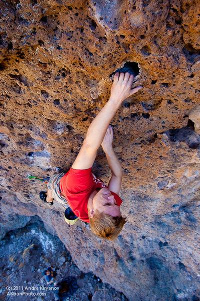 "Rock Climbing Photo: Todd Fertig on ""The Tale of Jemima Puddleduck..."