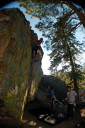 Rock Climbing Photo: Closing moves to the top out