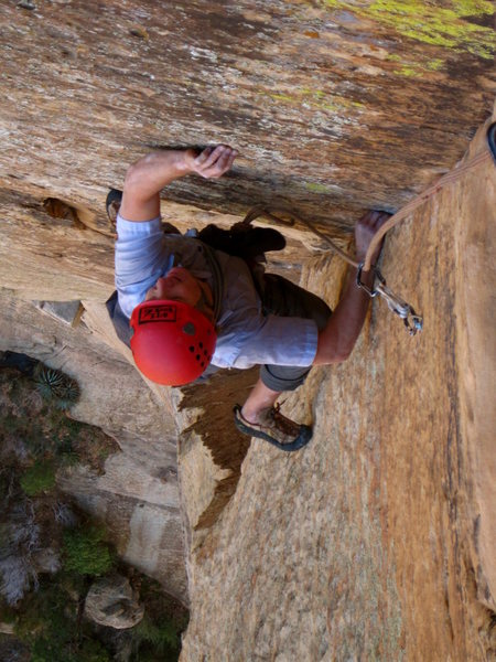 Rock Climbing Photo: Super fun 'juggy' crux moves!