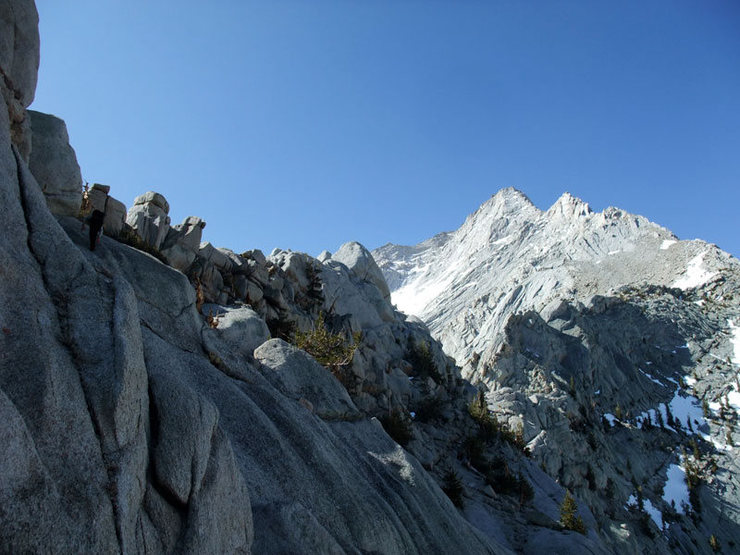 Rock Climbing Photo: Mike heading for the ridgeline proper