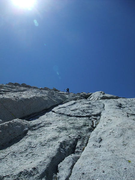 Rock Climbing Photo: crossing the slabs