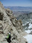 Rock Climbing Photo: chossy downclimb into the notch