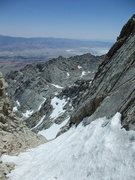 Rock Climbing Photo: looking down to the Owens Valley