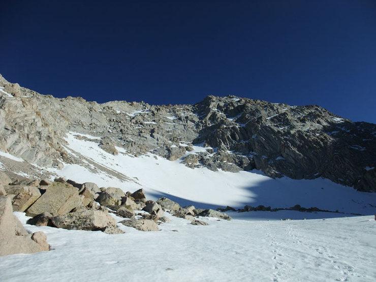 Rock Climbing Photo: descent to Meysan Lakes