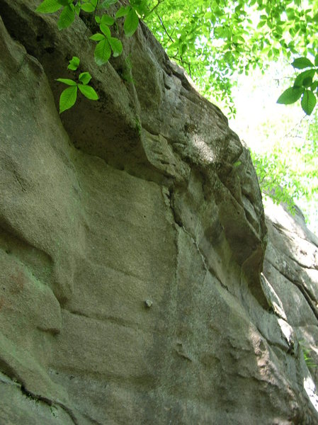 Dike With A Heart, a fun little 5.11 problem that overhangs 5 feet in 20 feet of climbing.  Unique holds, fun moves.