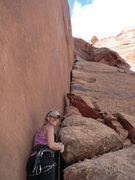Rock Climbing Photo: Lisa Gillest belaying Jess Keegan on the Pony Expr...