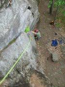 Rock Climbing Photo: Joshua cleans Fat Crack.