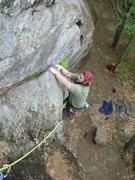 Rock Climbing Photo: Joshua follows Fat Crack.