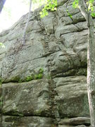 Rock Climbing Photo: Standard Route at Rines Hill.