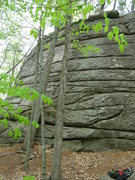Rock Climbing Photo: Moss Face in the Amphitheater Area at Rines Hill.