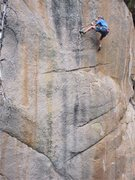 Rock Climbing Photo: Steve Brown working up the final steep section.