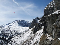 Rock Climbing Photo: The view up towards Melchsee-Frutt from the top of...