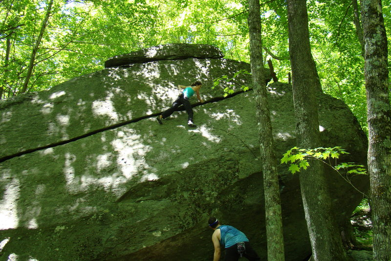 Rock Climbing Photo: Towards the end of the Cows on the Run traverse