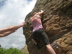 Rock Climbing Photo: Bucketland, VO - Horsetooth, Fort Collins, CO