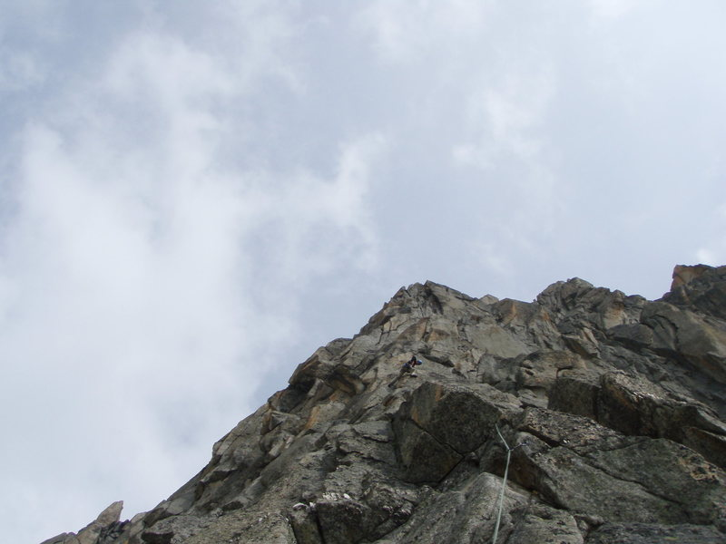 Rock Climbing Photo: Midway through the steep upper wall.