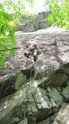 Rock Climbing Photo: rocking up past the crux on turbocharge