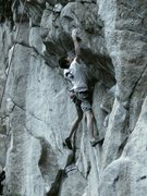 Rock Climbing Photo: Mike showing us the alternative, boulderer's crux ...