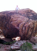 """Rock Climbing Photo: East side of the Red Spring Boulder showing """"..."""