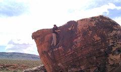 Rock Climbing Photo: Downclimbing Blackstone, this boulder wasn't the e...
