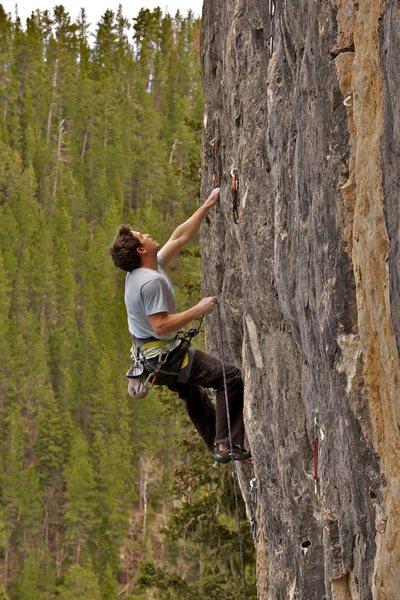 Rock Climbing Photo: McNabb maintaining on Maximum Overdrive
