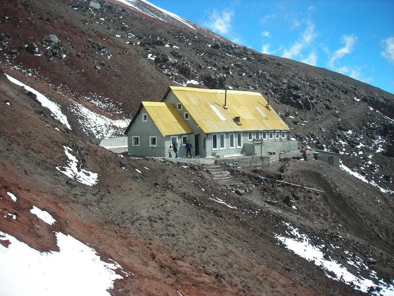 The refugio at the base of Cotopaxi.